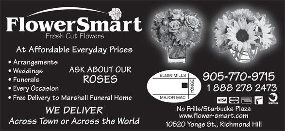 Flowersmart (905-770-9715) - Display Ad -
