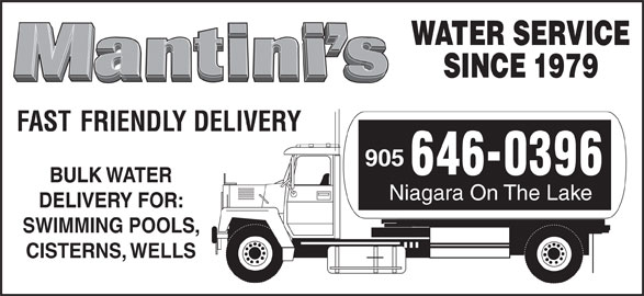 Mantini 39 S Water Service 569 Carlton St St Catharines On
