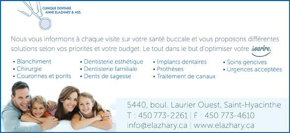 Clinique Dentaire Anne Elazhary (4507732261) - Annonce illustrée======= -