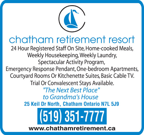 Chatham retirement resort by revera chatham on 25 for 24 hour tanning salon near me