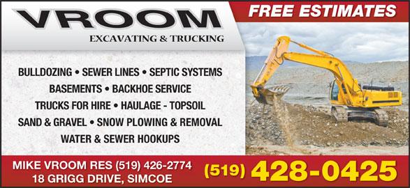 Vroom Excavating Amp Trucking 18 Grigg Dr Norfolk On