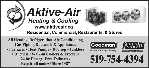 aktive-air heating  u0026 cooling - brantford  on