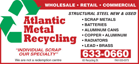 atlantic metal recycling saint john nb 541 rothesay av canpages. Black Bedroom Furniture Sets. Home Design Ideas
