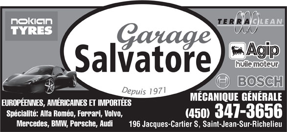 Garage salvatore saint jean sur richelieu qc 196 rue for Garage ad saint thurial