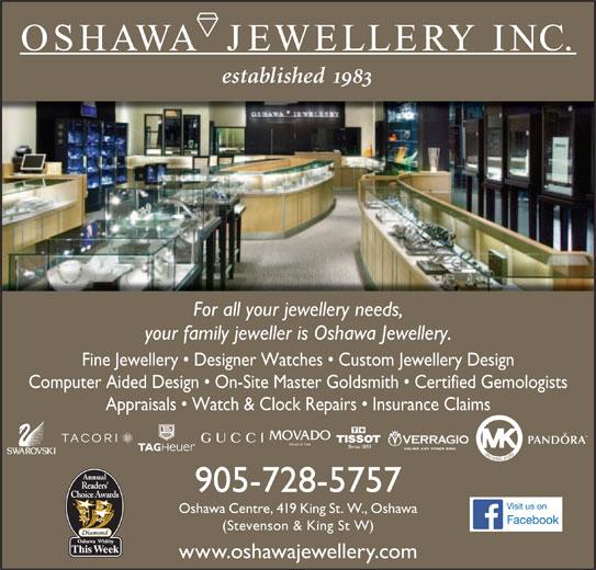 oshawa jewellery inc oshawa on 419 king st w canpages