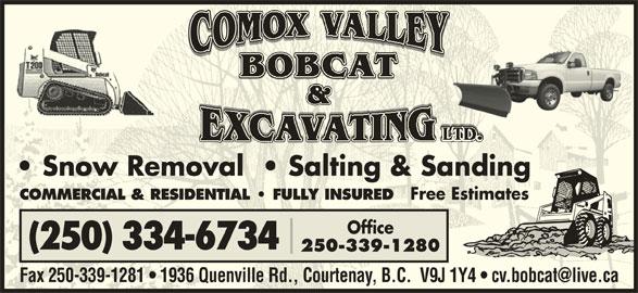 Comox Valley Bobcat Amp Excavating Ltd Courtenay Bc