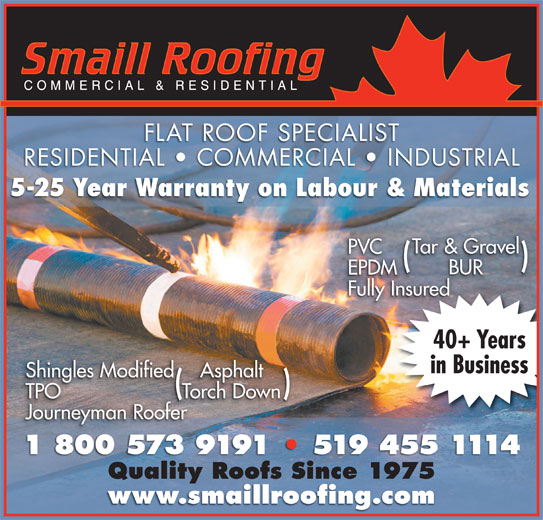 Smaill Roofing 461 Second St London On