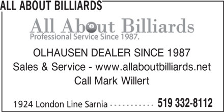 ad All About Billiards