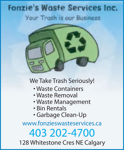 ad Fonzie's Waste Services Inc