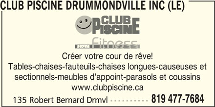 Club piscine super fitness drummondville qc 135 rue for Club piscine super fitness boucherville