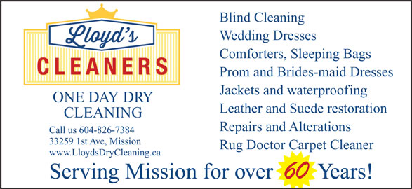 Lloyd S Cleaners Mission Bc 33259 1st Ave Canpages
