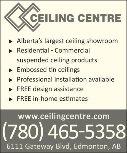 Ceiling Centre - Edmonton, AB - 6111 Gateway Blvd NW : Canpages