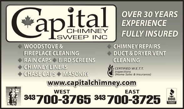 Capital Chimney Sweep Inc Navan On 2928 Mer Bleue Rd