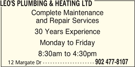 Ads Leo's Plumbing & Heating Ltd
