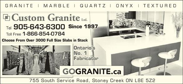 Reviews for Custom Granite & Marble Ltd