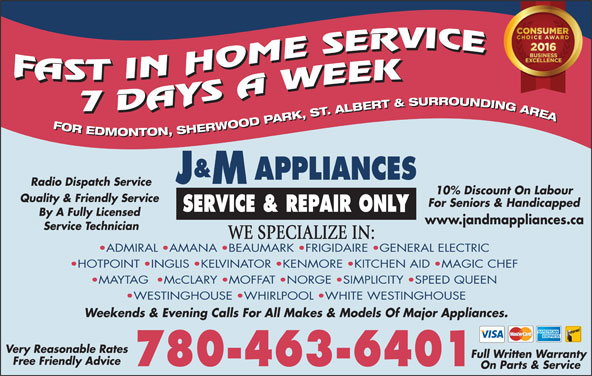J Amp M Appliances Opening Hours