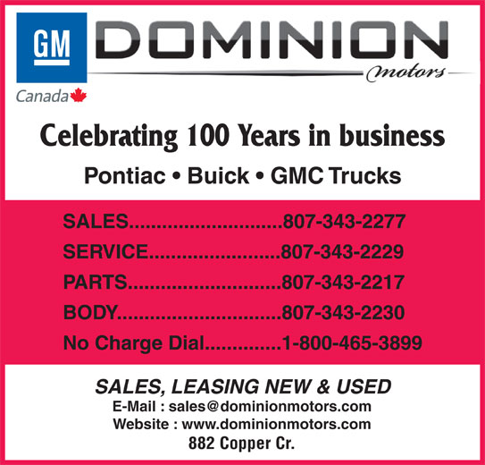 dominion motors controls ltd Dominion motors 1/30/2008 problem dominion motors & controls, ltd has greater than 50% market share of northern canada oil well pumping motors the company feels this position could falter, however, once the results of tests conducted by the hamilton oil company are released to the public.