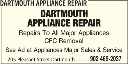 Dartmouth Appliance Repair Dartmouth Ns 205 Pleasant