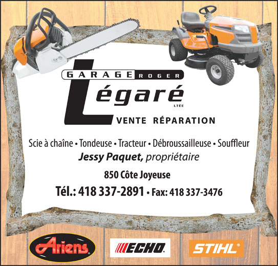 Garage roger legare saint raymond qc 850 c te joyeuse for Garage ad saint thurial