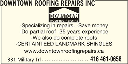 ad Downtown Roofing Repairs Inc