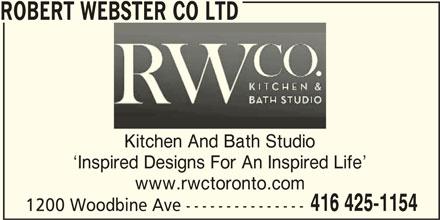 ad The Robert Webster Co Ltd