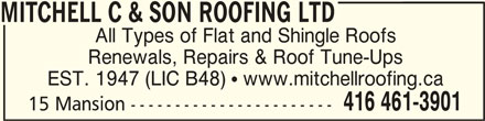 ad Mitchell C & Son Roofing Ltd