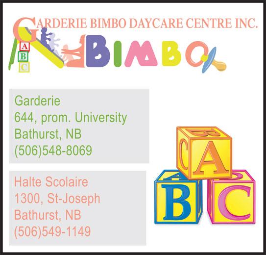 Bimbo Day Care Bathurst NB 644 University Dr Canpages