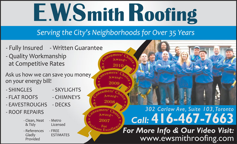 Ads Smith E W Roofing
