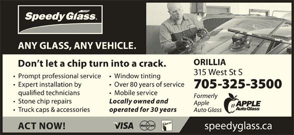 Speedy Glass (705-325-3500) - Display Ad -