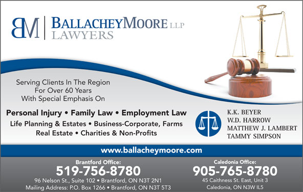 Ballachey Moore Beyer amp; Harrow  Brantford, ON  175 Brant Ave