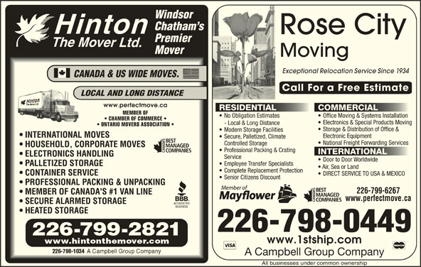 Hinton The Mover 2657 Mcdougall St Windsor On